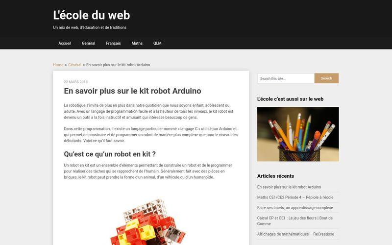 En savoir plus sur le kit robot Arduino – L'école du web
