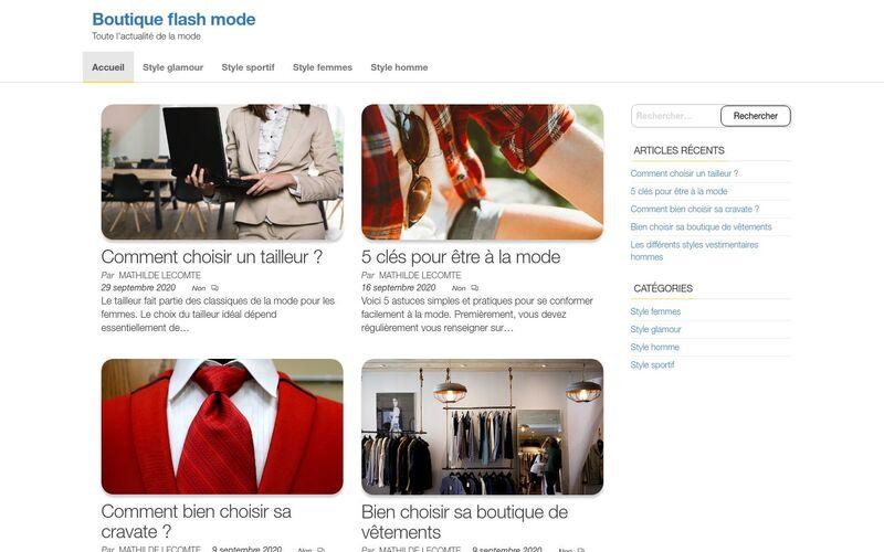 Boutique flash mode - La mode facile et rapide