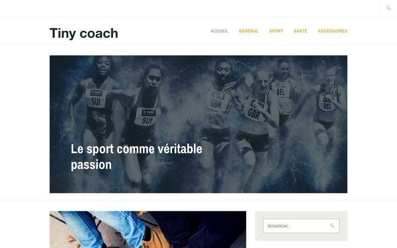 Tiny coach - Le sport comme véritable passion